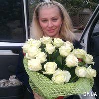 19 white roses bouquet - Photo 1