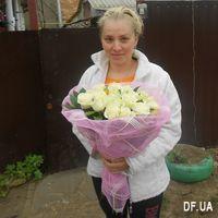 19 white roses bouquet - Photo 2