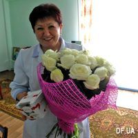 Bouquet of white roses - Photo 1