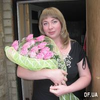 Bouquet of 13 pink roses - Photo 1
