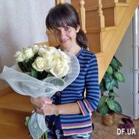 Bouquet of 15 white roses - Photo 2