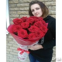 Bouquet of 15 red roses in craft - Photo 5