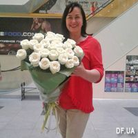 Bouquet of 25 white roses - Photo 1