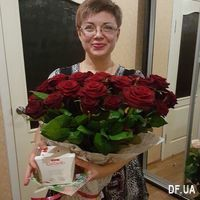 Bouquet of 45 red roses - Photo 1