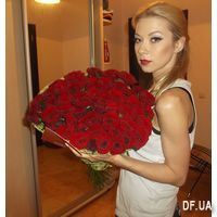 Bouquet of 55 red roses - Photo 1