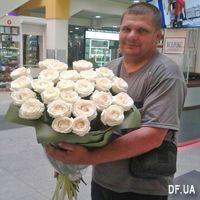 Красивые белые розы - Фото 1