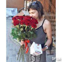 Букет 21 красная роза - Фото 2
