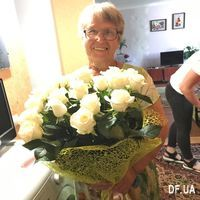 Bouquet of white roses with a birthday - Photo 1