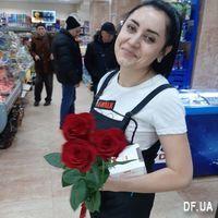 3 импортные красные розы - Фото 2