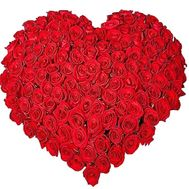 101 red rose heart - flowers and bouquets on df.ua