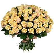 101 кремовая роза - цветы и букеты на df.ua