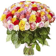 101 multi-colored rose bouquet - flowers and bouquets on df.ua