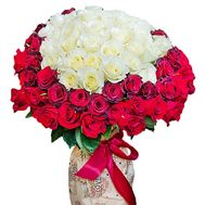 101 roses in the heart - flowers and bouquets on df.ua