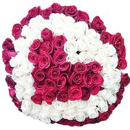 101 heart-shaped roses - flowers and bouquets on df.ua