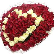 101 роза в виде сердца - цветы и букеты на df.ua