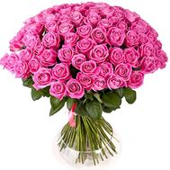 101 pink rose bouquet - flowers and bouquets on df.ua