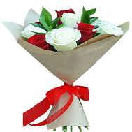 11 red and white roses - flowers and bouquets on df.ua