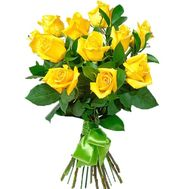 11 yellow roses - flowers and bouquets on df.ua