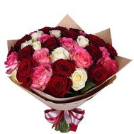 35 multi-colored roses - flowers and bouquets on df.ua