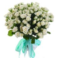 White bush roses bouquet - flowers and bouquets on df.ua