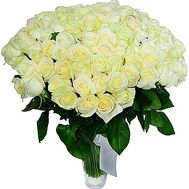 Bouquet 101 white rose - flowers and bouquets on df.ua