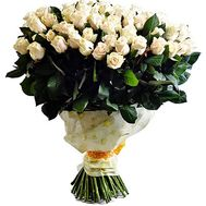 Bouquet 101 cream-colored rose - flowers and bouquets on df.ua