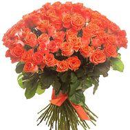 Букет 101 оранжевая роза - цветы и букеты на df.ua