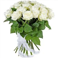 19 white roses - flowers and bouquets on df.ua