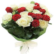 25 white and red roses - flowers and bouquets on df.ua