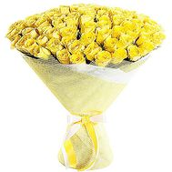 """Bouquet of 75 yellow roses"" in the online flower shop df.ua"