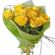 9 yellow roses - flowers and bouquets on df.ua