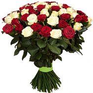 Букет белых и красных роз - цветы и букеты на df.ua
