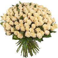 Букет из 101 кремовой розы - цветы и букеты на df.ua