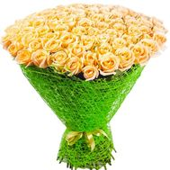 Bouquet of 101 peach roses - flowers and bouquets on df.ua