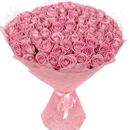 Bouquet of 101 pink roses - flowers and bouquets on df.ua