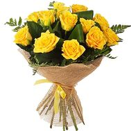 13 yellow roses - flowers and bouquets on df.ua