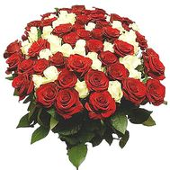 95 red and white roses - flowers and bouquets on df.ua