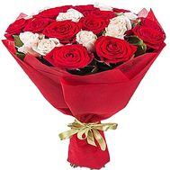 19 red and white roses - flowers and bouquets on df.ua