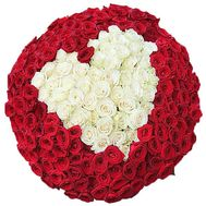 Bouquet of roses heart - flowers and bouquets on df.ua