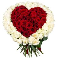 Bouquet of roses with heart - flowers and bouquets on df.ua