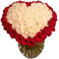 Bouquet of roses with a heart - flowers and bouquets on df.ua
