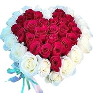 Bouquet of roses in the form of heart - flowers and bouquets on df.ua