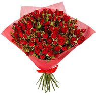 Bouquet of red bush roses - flowers and bouquets on df.ua