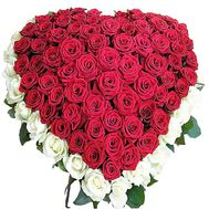 A bouquet of roses in the shape of a heart - flowers and bouquets on df.ua