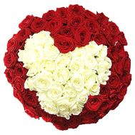 A bouquet of roses in the form of a heart - flowers and bouquets on df.ua