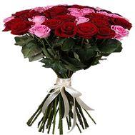 """""""Букет розовых и красных роз"""" в интернет-магазине цветов df.ua"""
