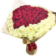 Bouquet heart from roses - flowers and bouquets on df.ua