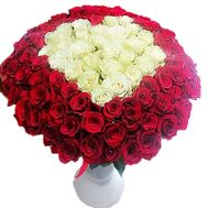 Rose heart bouquet - flowers and bouquets on df.ua