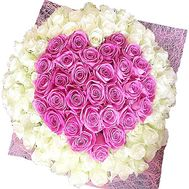 Heart-shaped bouquet of roses - flowers and bouquets on df.ua