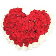 Heart-shaped bouquet - flowers and bouquets on df.ua